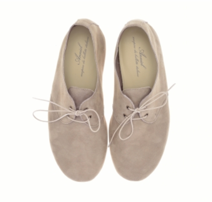 Anniel Taupe Lace-Up Flats