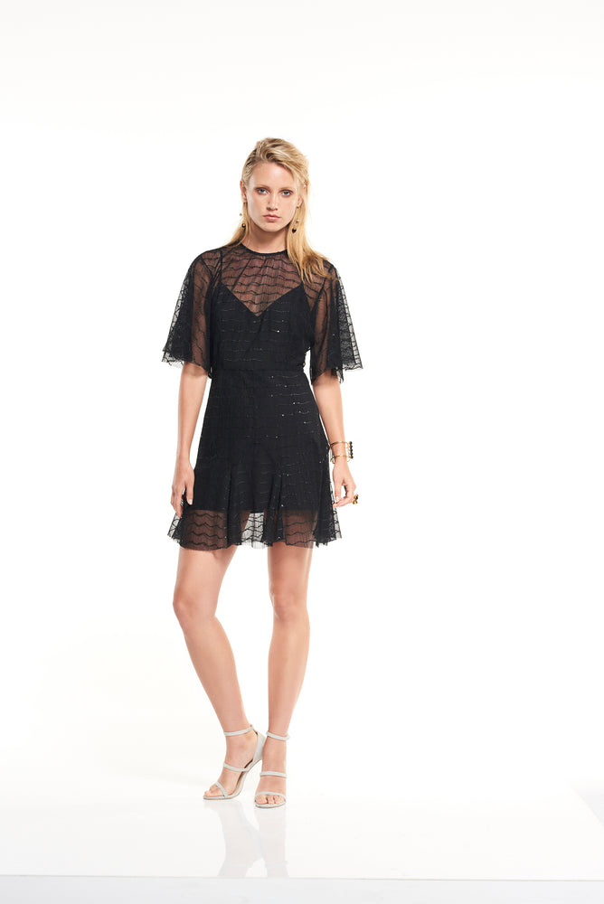 Candid Lace Shift Mini Dress