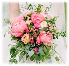 Pink flowers for a wedding bouquet