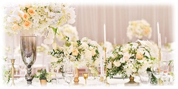 Wedding bouquets flowers -on table