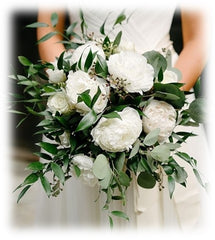 White flowers for wedding bouquet