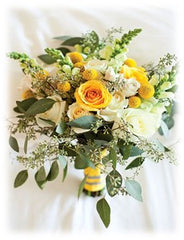 Yellow flowers for wedding bouquet