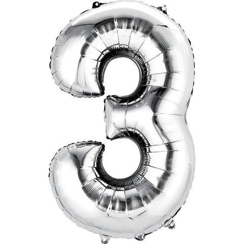34in Number 3 Balloon