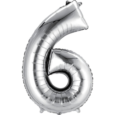 34in Number 6 Balloon