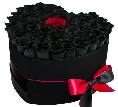 Black and Red Loving You Heart Box