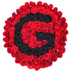 Black and Red Roses Initial