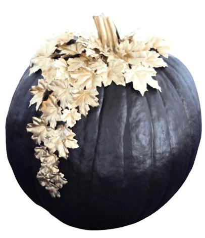Black Pumpkin with Gold