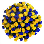 Blue and Yellow Roses Bouquet