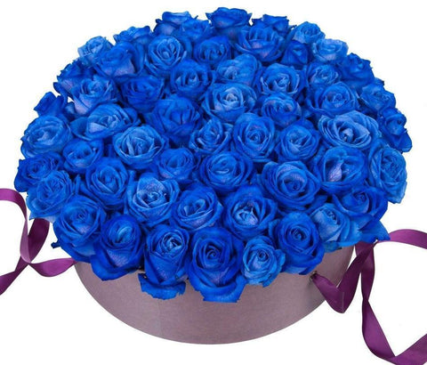 Blue Roses Hat Box