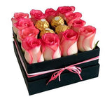 Blush Roses with Chocolate