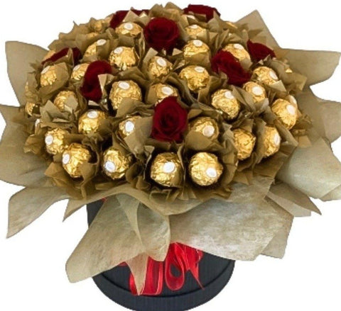 Box Chocolate with Roses