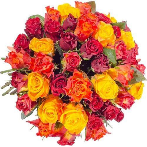 Bright Colored Roses Bouquet
