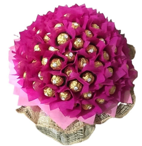 Bright Pink Chocolate Bouquet