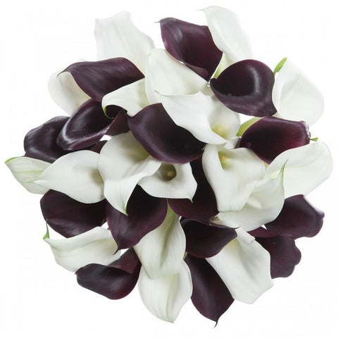 Burgundy and White Glamour Bouquet