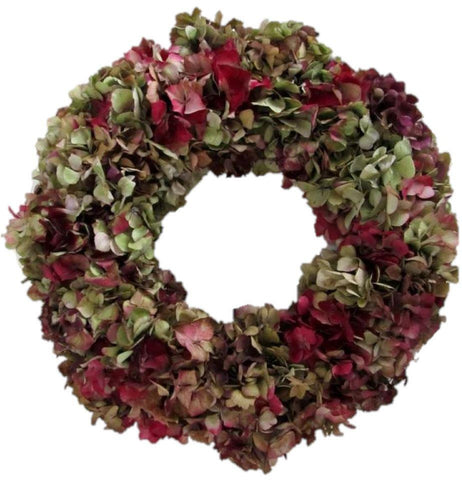 Burgundy Hydrangea Door Wreath