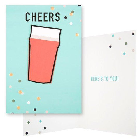 Card Cheers Here's To You!