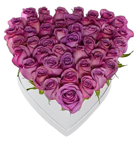 Cerise Roses Heart Box