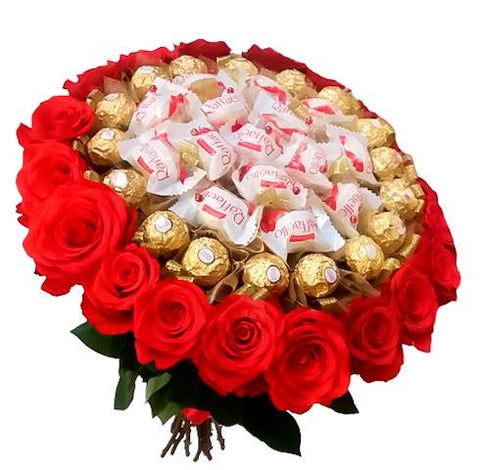 Chocolate Bouquet with Roses