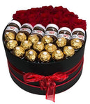 Chocolate Roses with Nutella or Jams Hat Box