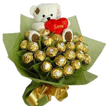 Chocolate with Taddy Bouquet