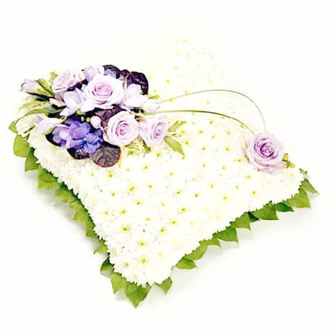 Classic Cushion & Purple Corsage