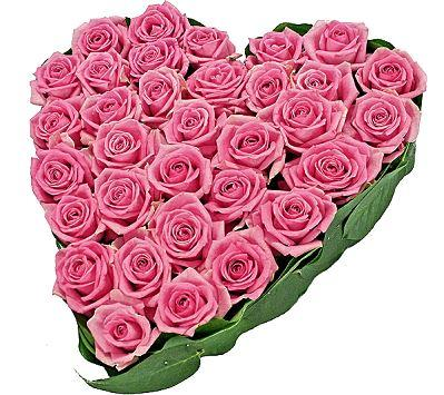 Classic Pink Roses Heart