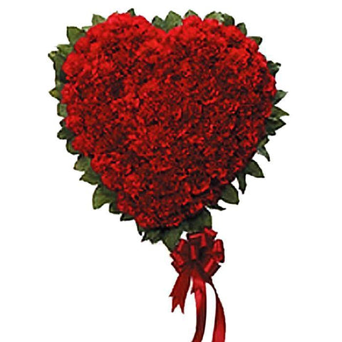 Classic Red Carnation Heart
