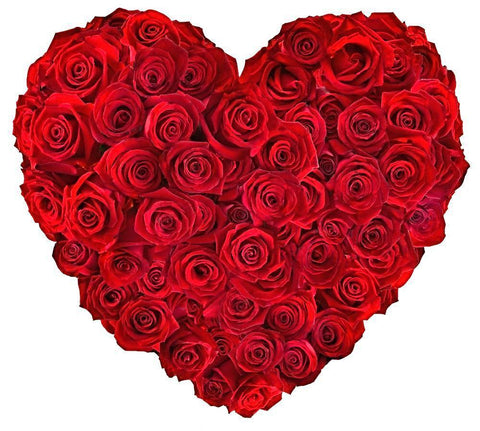 Classic Red Roses Heart