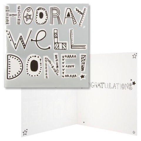 Congratulations Card Hooray, Well Done!