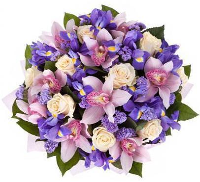 Cymbidium in Purple Bouquet