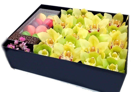 Cymbidium Orchid with Macaroons