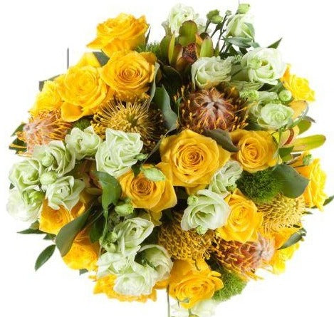 Fabulous Yellow Exotic Bouquet