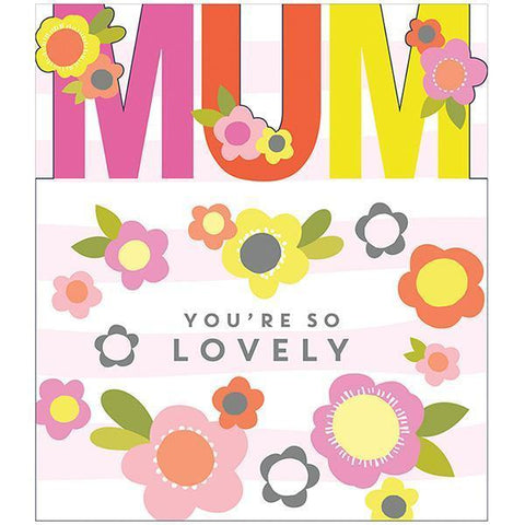 Flower Pop Mum Cut Out Mother's Day Card