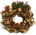 Gold Cones Christmas Wreath