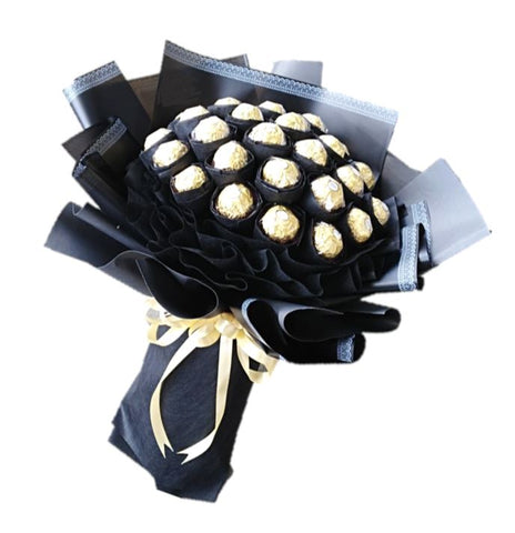 Gold on Black Chocolate Bouquet