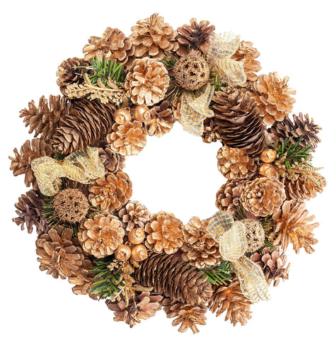Gold Plated Christmas Wreath