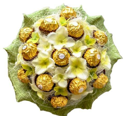 Green Ferrero Rocher Chocolate Bouquet