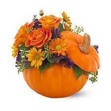 Happy Halloween Pumpkin Arrangement