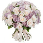 Ivory and Lavender Roses Bouquet