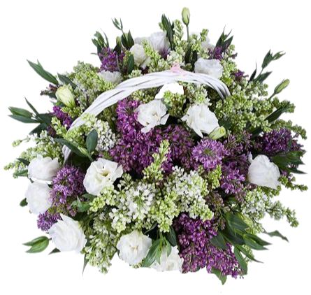 Lilac with Lisianthus Basket