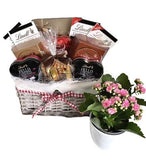 Lindt Hamper with Flowers