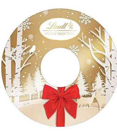 Lindt Lindor Festive Chocolate Selection Wreath