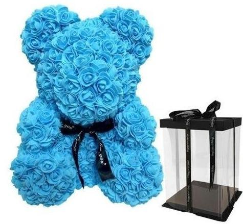 Luxury Blue Rose Teddy Bear