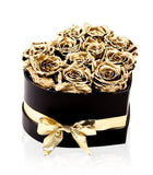 Luxury Gold Roses Hat Box