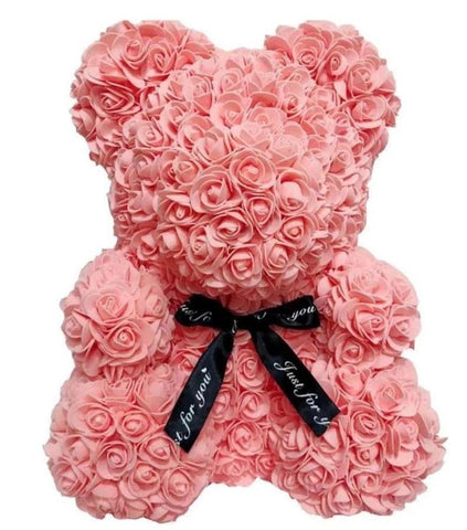 Luxury Peach Rose Teddy Bear