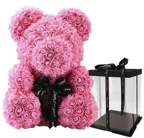 Luxury Pink Rose Teddy Bear