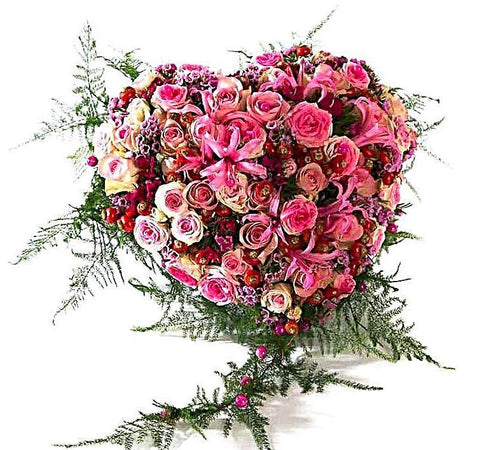 Luxury Pink Shades Roses Heart