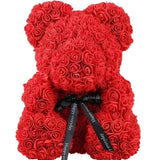 teddy bear red roses