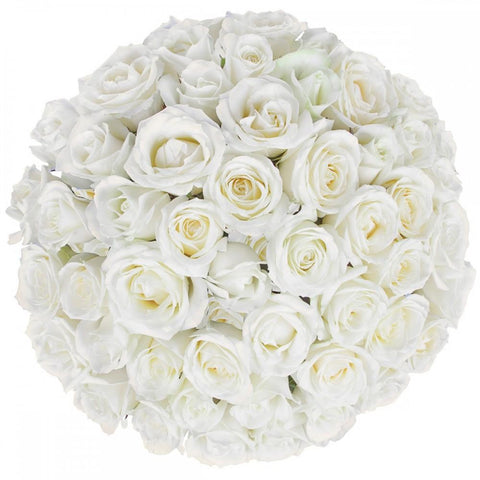 Luxury White Roses Bouquet