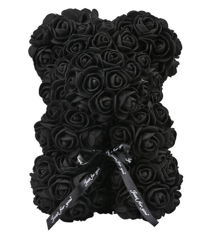 Mini Luxury Black Rose Teddy Bear